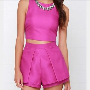 Lulu's At Daybreak Magenta Formal Short Shorts